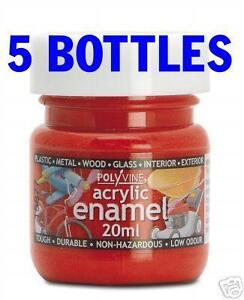 5x-Acrylic-Enamel-Airbrush-Paint-20ml-Pick-from-36-cols