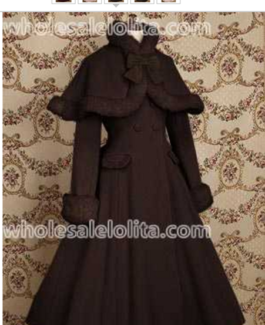 Lolita Victorian 50's Coat with full skirt and detachable cape.
