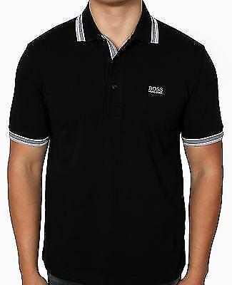 BOSS Green Paddy Black Men's Short Sleeve Polo 100% Cotton 50198254 001 ()