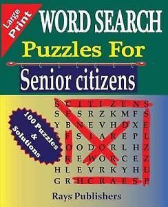 Word Search Puzzles for Senior Citizens by Rays Publishers 9781517790172