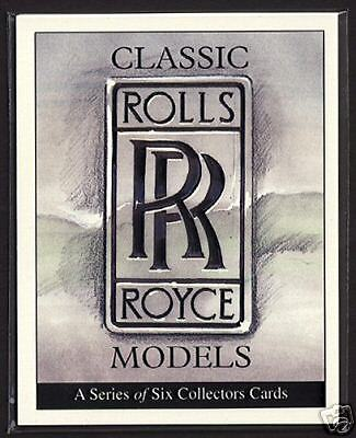 ROLLS-ROYCE - Collectors Card Set - Silver Cloud DHC Shadow Ghost Spirit Wraith