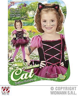 BALLERINA KATZE Größe 116  Kinder Kostüm für Mädchen Katzenkostüm Haarreif