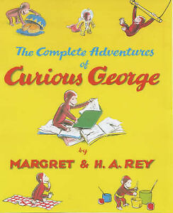 THE COMPLETE ADVENTURES OF CURIOUS GEORGE HARDBACK BOOK KIDS H A & MARGRET REY