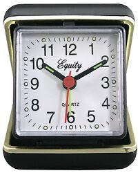 LA CROSSE TECHNOLOGY LTD Travel Alarm Clock,  Quartz Movement, Fold-Up Case