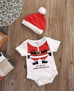 NEW! 2pc Baby Christmas Santa suit -  Multiple sizes available!