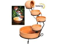 **BRAND NEW TERRACOTTA SOLAR WATER FEATURE**
