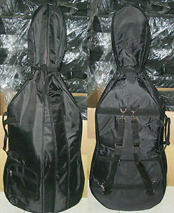 New, 4/4 soft Cello case, with back straps and bow pocket