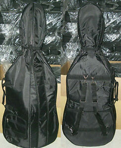 New, 4/4 soft Cello case, with backstraps with bow pocket