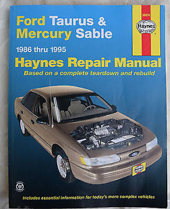 Ford Taurus & Mercury Sable  1986 - 1995 Haynes Repair Manual