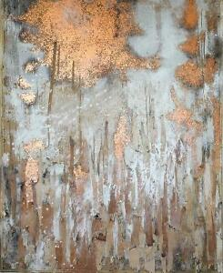 Toile abstraite «Incandescence»
