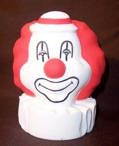 CLOWN-STRESS-BALL-reliever-party-creepy-scary-insane-CIRCUS-bozo-weird