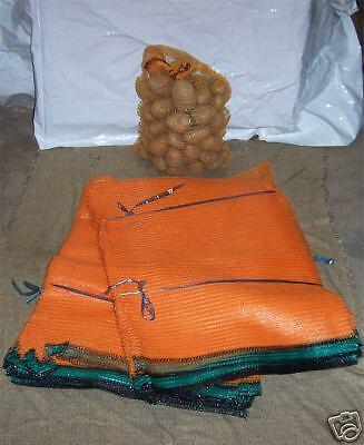 10 Potato Raschel Sacks Sacks 25kg Capacity 50 x 80 CM Without Tie Rod