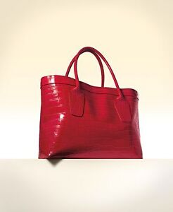 Elizabeth Arden Red Mock Croc Tote Shopper Weekend Hand Bag