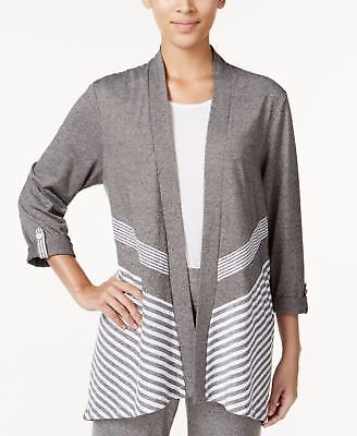 Acadia Collection - Alfred Dunner Acadia Collection Striped Cardigan