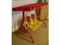 Childrens Ladybug Double Swing Seat