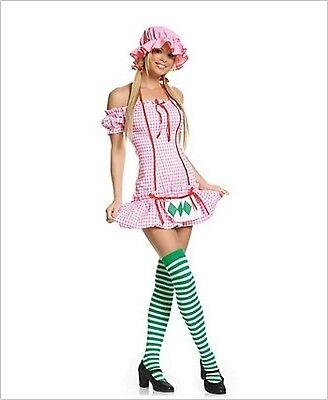 Leg Avenue Strawberry Girl Costume 8411 Pink/Green Medium - Strawberry Girl Costume
