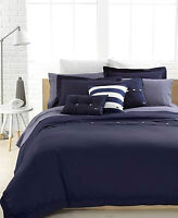 LACOSTE 3 Piece Brushed Twill Duvet Set(open box,never used,new)