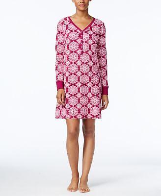 Charter Club Printed Textured Fleece Sleeps Hydrangea Multi Dot M