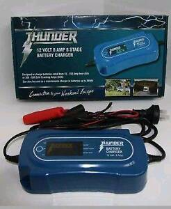 THUNDER 12V 8 Amp 8 Stage FULLY AUTOMATIC BATTERY CHARGER Windsor Gardens Port Adelaide Area Preview