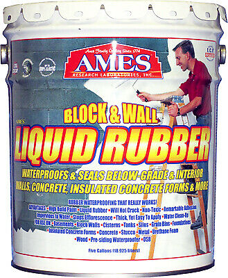 Block Wall Liquid Rubber Coating White 5-gals.