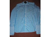 """New Ted Baker Double Cuff Shirt Size Collar 15.5 London archive 38"""" chest"""