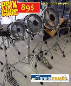 DES SPÉCIAUX sur tout l'usagé DANS LE DRUMSHOP - Batteries - Cymbales - Pieds - Percussions - Tout y passe!