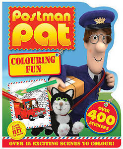 NEW = POSTMAN PAT - COLOURING FUN with over 400 STICKERS and 15 SCENES