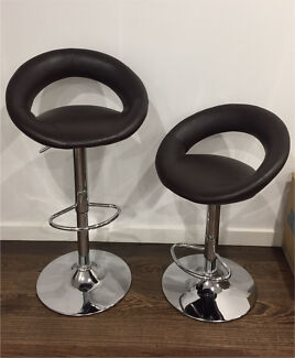 Stools -  two chocolate covered stools