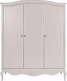 Ex display Schreiber Alysa 3 Door Wardrobe - Off White