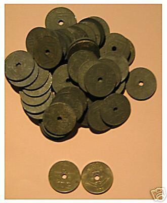 7 x 10 cent  1941 à 1944 Léopold III + boutique