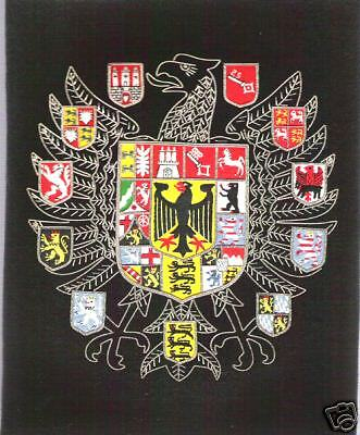 German Prussia States Kingdom Empire HRE Crest Arms War Eagle Cross Flag Emblem
