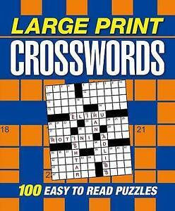 Large Print Crosswords by Publishing, Arcturus -Paperback