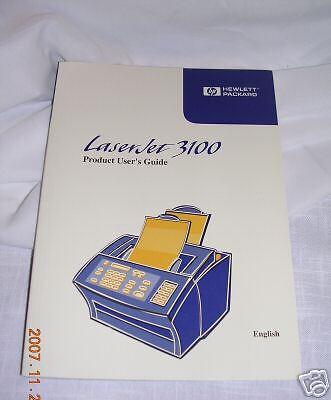 HEWLETT PACKARD LASERJET 3100 - Product User's Guide   Hewlett Packard Users Guide