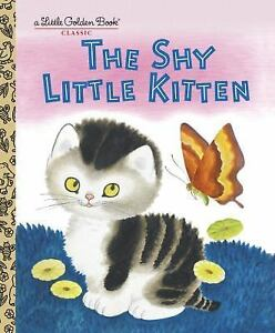 Childrens-Little-Golden-HC-Book-Classic-The-Shy-Little-Kitten-Cat