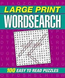 Large Print Wordsearch by Publishing, Arcturus -Paperback