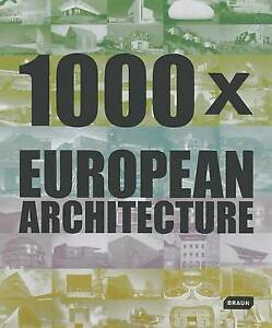 1000x European Architecture, Braun Publishing, New, Hardcover