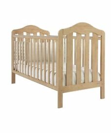 'lucia' cot bed with mattress, mamas & papas