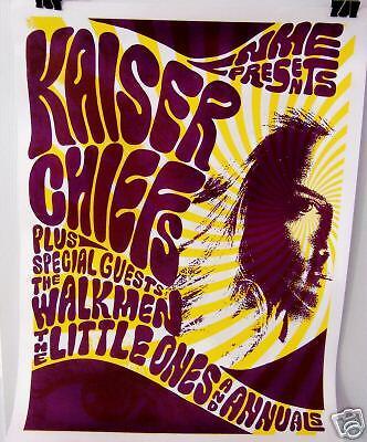 Kaiser Chiefs w/ The Walkmen Tour Poster - VG++
