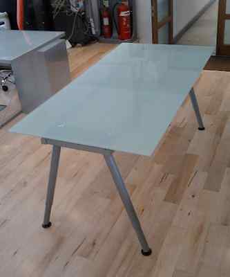 Ikea Galant Glass Top Desk Table Excellent Condition