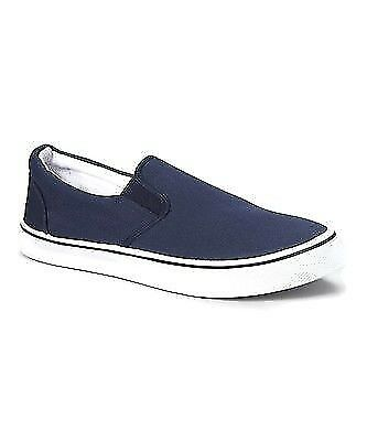 ZIG ZAG Slip-ons Casual Men's Shoes Canvas Black, Navy or White Sizes 6.5-13 NEW 1