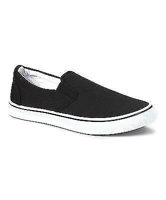 ZIG ZAG Slip-ons Casual Men's Shoes Canvas Black, Navy or White Sizes 6.5-13 - Mens Casual Slip Ons