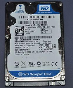 TESTED 160 GB LAPTOP SATA HARD DRIVE - $25/OBO