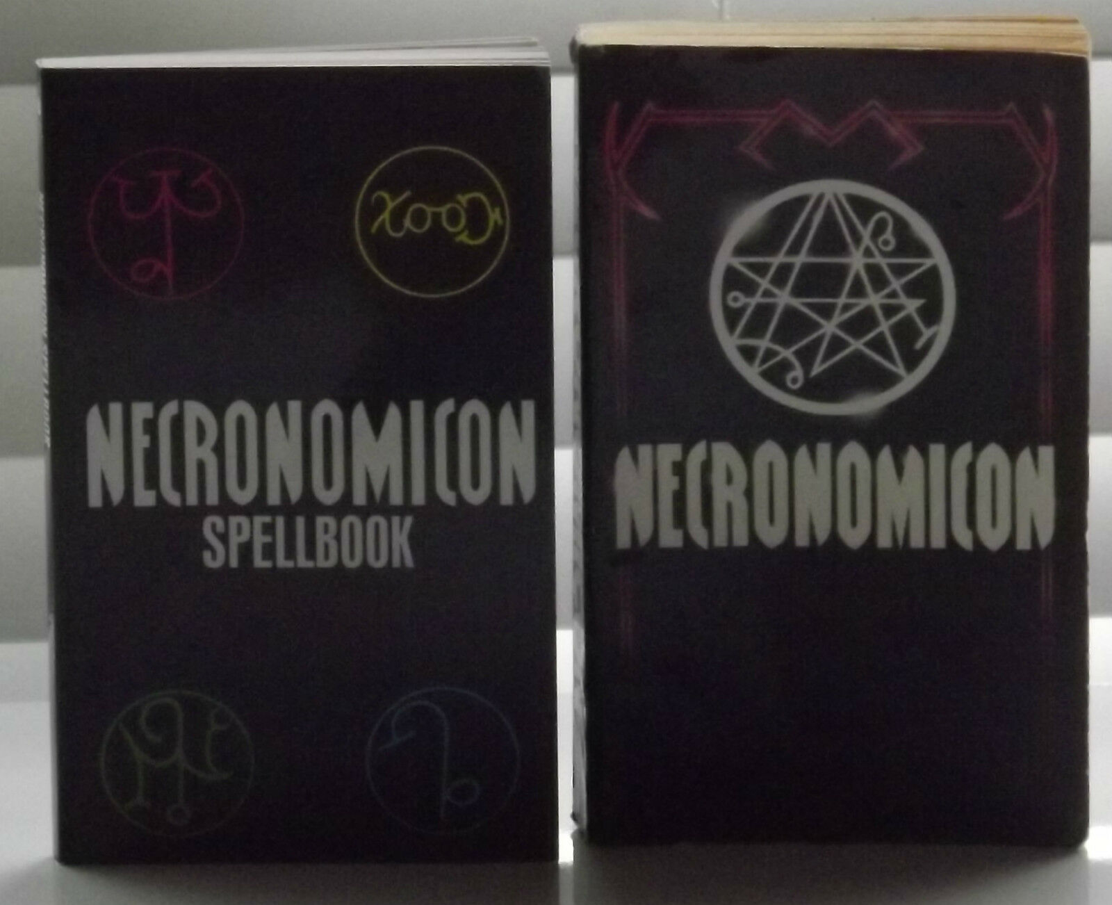 Lot of 3 books necronomicon and spellbook plus history dead names by simon
