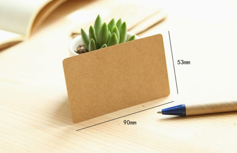 100pcs/box classic kraft paper blank message/greeting/present card diy bookmark