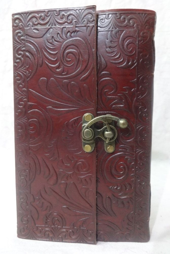 12 vintage genuine leather book of shadows blank paper journal notebook diary