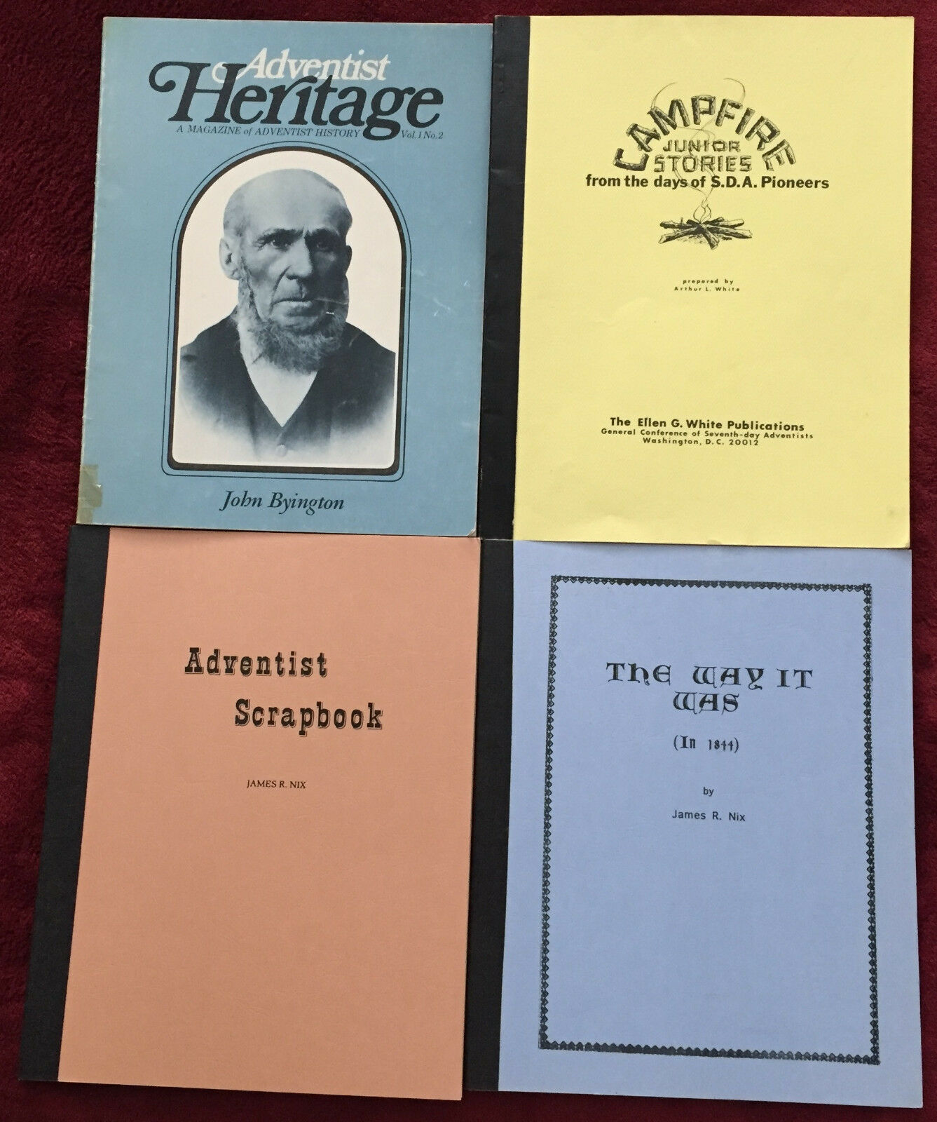 4 publications sda adventist christian nostalgia vintage church articles reports