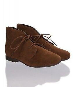 65be866320f8 Flat Lace Up Oxford Ankle Boots