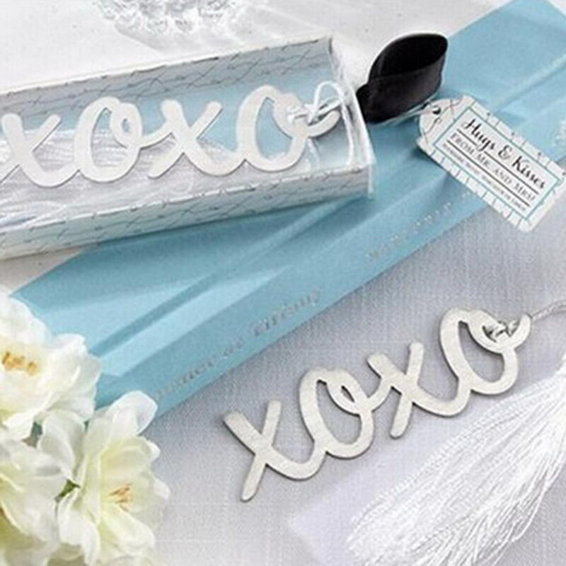 1pc stainless steel xoxo personalised bookmark silver tone present gift