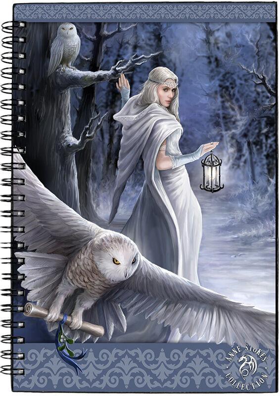 Buy online anne stokes midnight messenger journal notebook writting diary ledger 25cm