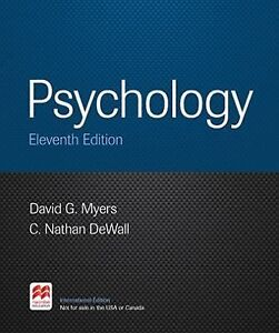 psychology 9th edition david g myer Available in: hardcover thus begins market-leading author david myers' discussion of developmental psychology in unit 9 of his new myers.